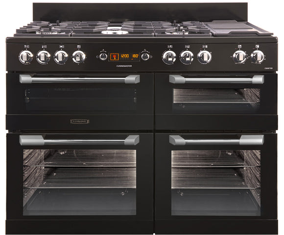 LEISURE 110CM CUISINEMASTER DUAL FUEL RANGE COOKER IN BLACK