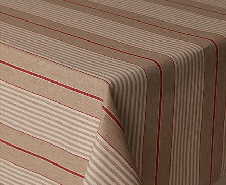 Acrylic Tablecloth Mirha Harbour Red Stripe (yarn dyed)