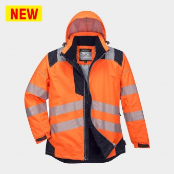 PORTWEST HI-VIS JACKET ORANGE