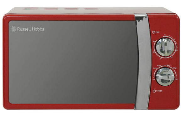 RUSSELL HOBBS 17LTR 700W MANUAL MICROWAVE | RED