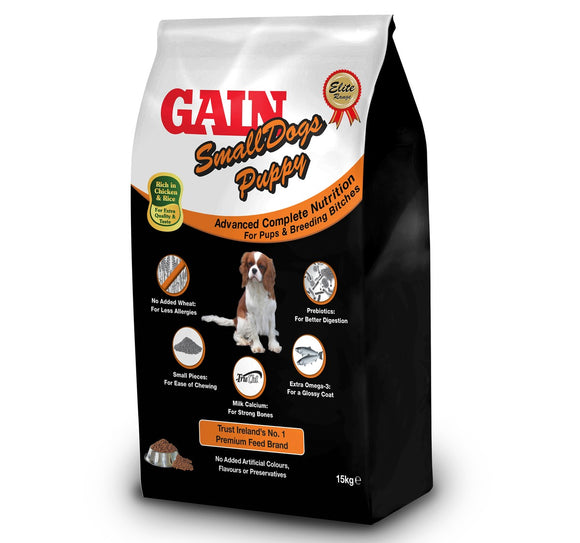 GAIN ELITE SMALL DOG FOOD PUPPY 15KG