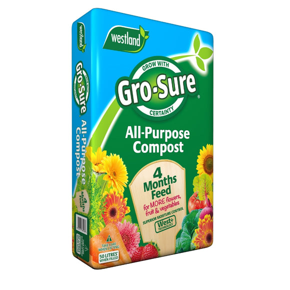 GRO-SURE ALL PURPOSE CONTAINER COMPOST 50L