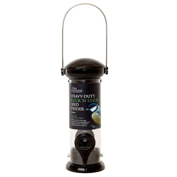 HEAVY DUTY FLICK N CLICK SEED FEEDER 2 PORT