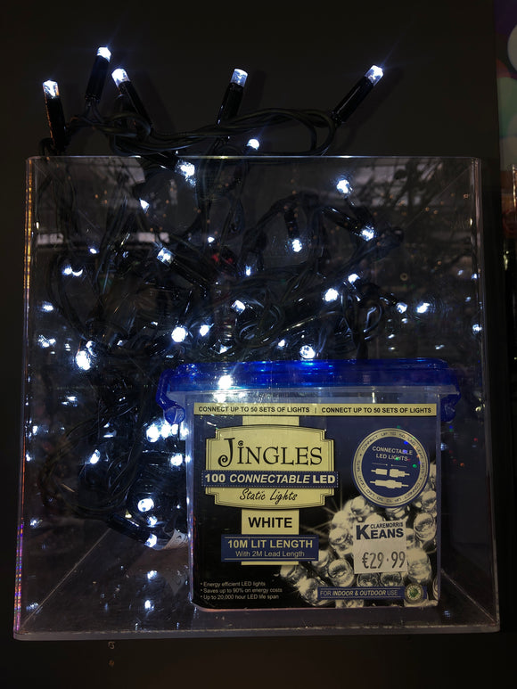 Jingles 100 Connectable LED Static Lights White