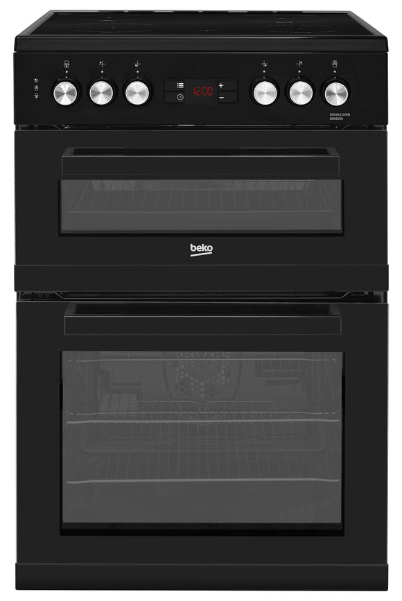 BEKO Freestanding 60cm Double Oven Electric Cooker | KDC653K