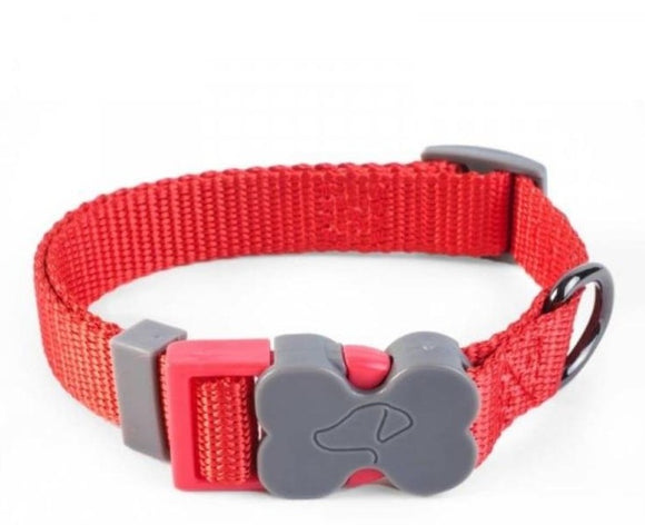 ZOON WALKABOUT DOG COLLAR BLUE/RED