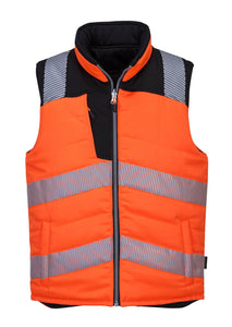 PORTWEST HI-VIS REVERSIBLE BODYWARMER  ORANGE