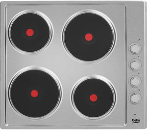 BEKO Electric Solid Plate Hob - Stainless Steel