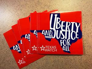 Liberty & Justice For All bumper stickers (10 pack)