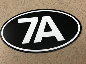 7A bumper sticker (10 pack)