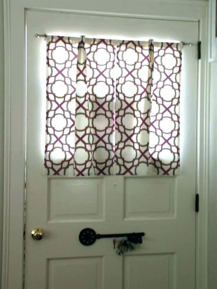Seductive Side Door Window Curtains