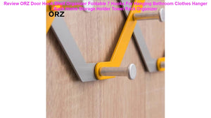 ORZ Door Hook Shelf Organizer Foldable 7 Hooks For Hanging Bethroom Clothes Hanger Rack Home Storage Holder Towel Rack Organizer Limited offer or ...