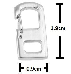 2 Pcs 1.9cm Steel Rectangle Wiregate Spring Carabiner, Stainless Steel Wiregate Quick Release Carabiner, Key Ring Keychain Split Rings EDC Tools Gadgets Keys Hook Link Snap Clip Connector SS
