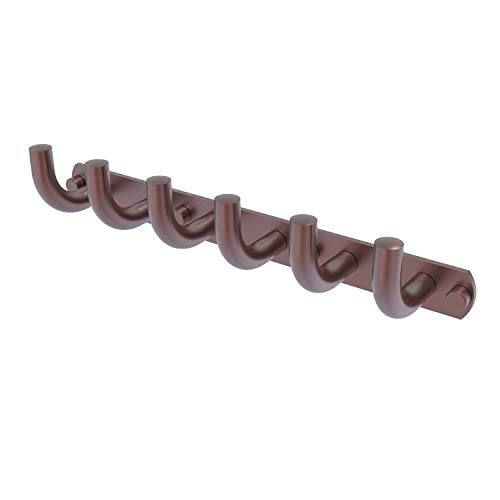 Allied Brass RM-20-6 Remi Collection 6 Position Tie and Belt Rack Decorative Hook, Antique Copper