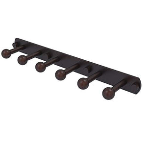 Allied Brass P1000-20-6 Prestige Skyline Collection 6 Position Tie and Belt Rack Decorative Hook, Venetian Bronze