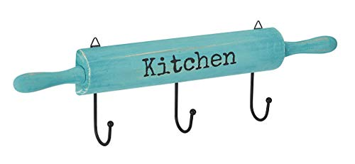 AdirHome Kitchen Utensil & Pot Hook Rack (Blue)