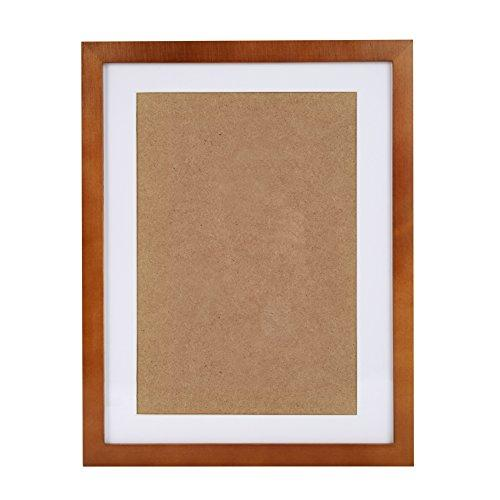 12X15 Brown Picture Frames Made To Display Picture 8X11 With Mat Or 11X14 Without Mat, Wall Mounting Material Included