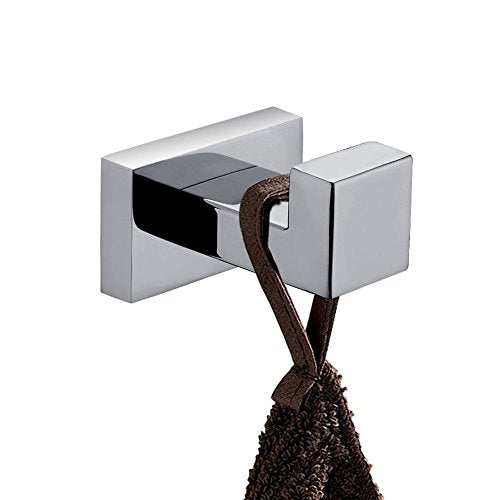 JYPHM Coat Hooks Wall Mounted Modern Stainless SteelSingle Towel Square Style Polished Finish