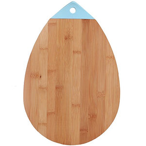 All Natural Bamboo Cutting Board Oval Teardrop Bamboo Kitchen Country Decor Bar Serving Board Cheese Plate Wood Serving Board Meat Vegetables Fruit Farmhouse 10 x 14.75 Inch
