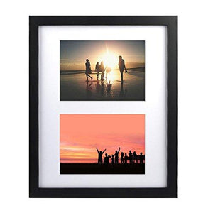 11X14 Collage Picture Frame, Alotpower Wooden Wall Picture Frame Displays Two 5X7 Inch Portrait Photo Multiple Photo Frame,Black