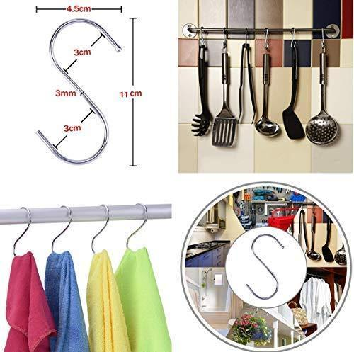 Megoday Classico Stainless Steel Closet Organizer Hanger for Shoes -2 Piece Set, Metal Clothespins & S Hook - 2 Piece Set Free