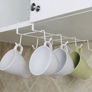 Closet Dangling - Ks8 8 Hook Stainless Steel Storage Rack Cupboard Hanging Shelf Bathroom Organizer - Wall Supported Pendant Suspension - 1PCs