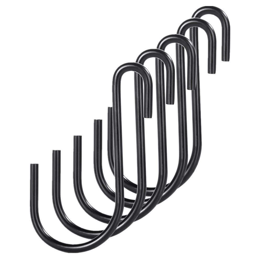 30 Pack Black Premium S Shaped Hooks Heavy Duty S Hanging Hooks Hangers M Sizes for Kitchen,Closet,Storage Room, Bathroom, Garage,Office,Workshop (M/30Pack)