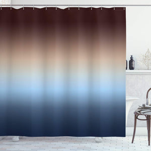 Ambesonne Ombre Shower Curtain Collection, Home Decorations Art Bathroom Decor, 70 Inches Long, Polyester Fabric Set with Hooks, Colorful Design Brown Blue Navy