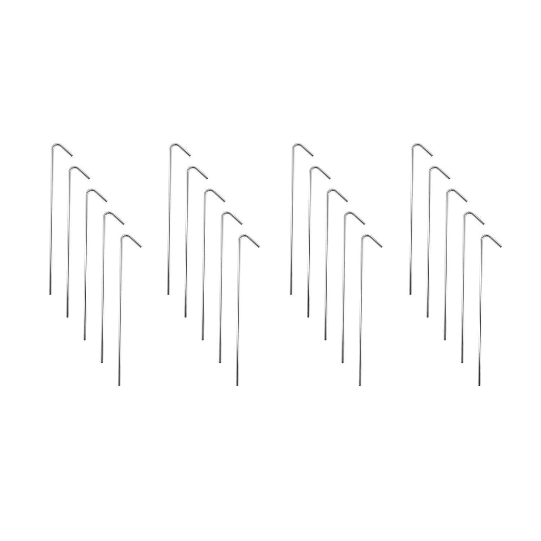 "9"" Galvanized Non-Rust Anchoring Tent Stakes Pegs for Outdoor Camping, Soil Patio Gardening, Canopies, Landscaping Trim (20 Pack) by Super Z Outlet"