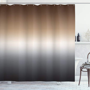 Ambesonne Home Decorations Art Bathroom Decor Collection, 70 Inches Long, Polyester Fabric Shower Curtain Set with Hooks, Ombre Colorful Design Brown White Black