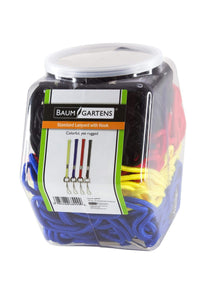SICURIX Standard Lanyards Hook Rope Style Hexagonal Tub Display of 72 ASSORTED Colors (68999)