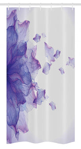 "Ambesonne Flower Stall Shower Curtain, Abstract Themed Modern Futuristic Image with Water Like Colored Artwork Print, Fabric Bathroom Decor Set with Hooks, 36"" X 72"", Lilac and Pink"