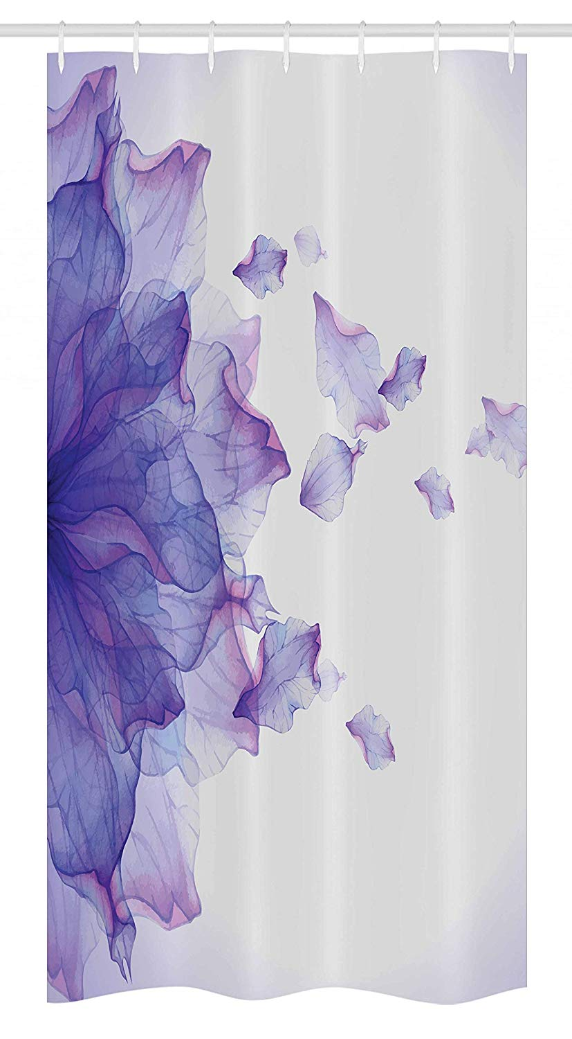 Ambesonne Flower Stall Shower Curtain, Abstract Themed Modern Futuristic Image with Water Like Colored Artwork Print, Fabric Bathroom Decor Set with Hooks, 36