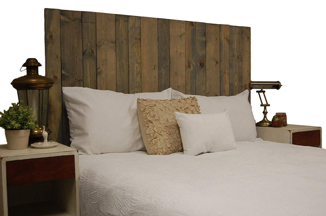 Classic Gray Headboard King Size Stain, Hanger Style, Handcrafted. Mounts on Wall. Easy Installation