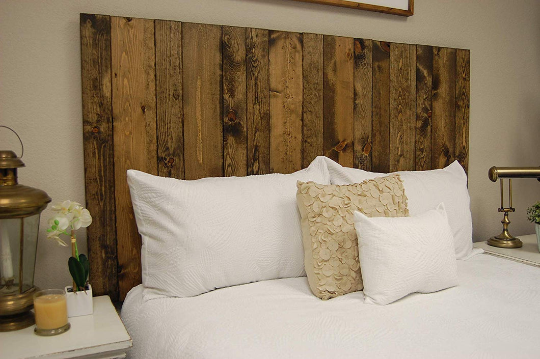 Dark Walnut Headboard Full Size Stain, Hanger Style, Handcrafted. Mounts on Wall. Easy Installation