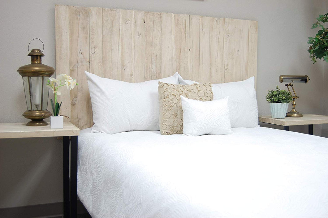 Antique White Headboard Twin Size Weathered, Hanger Style, Handcrafted. Mounts on Wall. Easy Installation