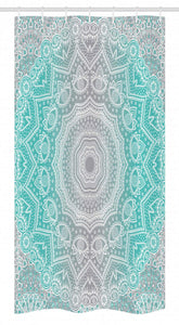 "Ambesonne Grey and Turquoise Stall Shower Curtain, Primitive Essence and Universe Harmony Mandala Ombre Art, Fabric Bathroom Decor Set with Hooks, 36"" X 72"", Blue Yellow"
