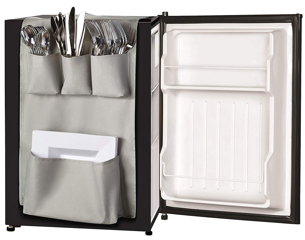 Classic Design - Over the Door Pantry Closet Organizer, Dorm and office Over the Fridge Caddy Organizer, Storage and Paper Goods Organizer (Gray)