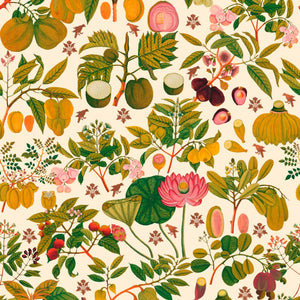 Asian Fruits and Flowers Wallpaper in Light Multi from the Florilegium Collection by Mind the Gap.