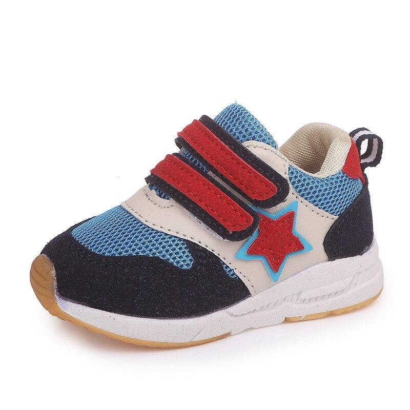 2018 Breathable high quality children casual shoes Hook&Loop fashionable sneakers girls boys breathable cute kids baby shoes