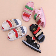 2018 summer glowing fashion cute baby first walkers Hook&Loop unisex girls boys shoes LED lighted glowing baby toddlers