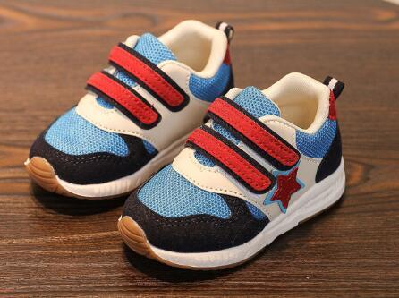 2018 European sports running breathable children casual shoes Hook&Loop fashion girls boys sneakers high quality kids footwear
