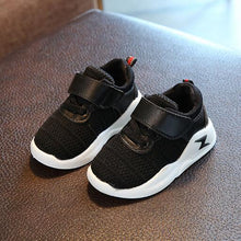 2018 High quality fashion Spring/Autumn sneakers kids Hook&Loop breathable mesh baby girls boys shoes rubber cute children shoes