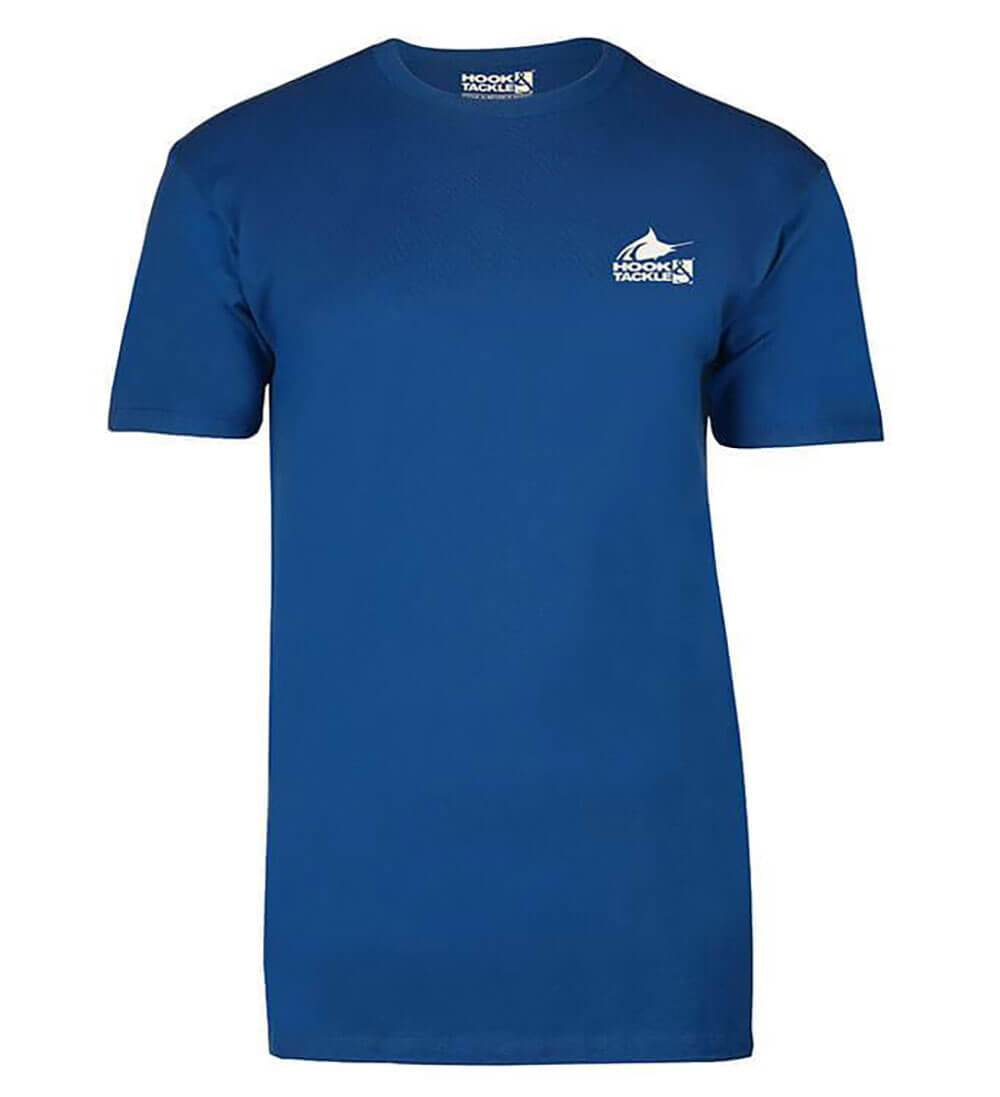 Hook & Tackle Piano Marlin Premium Reserve Fishing T-Shirt for Men in Royal Heather | M013808-612