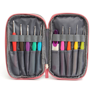 45 Pcs Crochet Needle Hooks Set Organiser Case Accessories Tapestry Craft Knitting Kit Craft Tools
