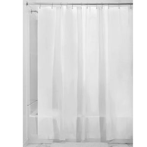 "InterDesign Vinyl Extra-Wide Shower Liner, PVC-Free Mold- and Mildew-Resistant Curtain for Master, Guest, Kids' Bathroom, Bathtub, 108"" x 72"", Clear"