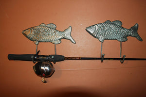 Large Cast Iron Fish Wall Hook, Nautical Fish Decor, Bronze-look fish wall mounted coat hook, Fishing Decor, Free Shipping, N-66