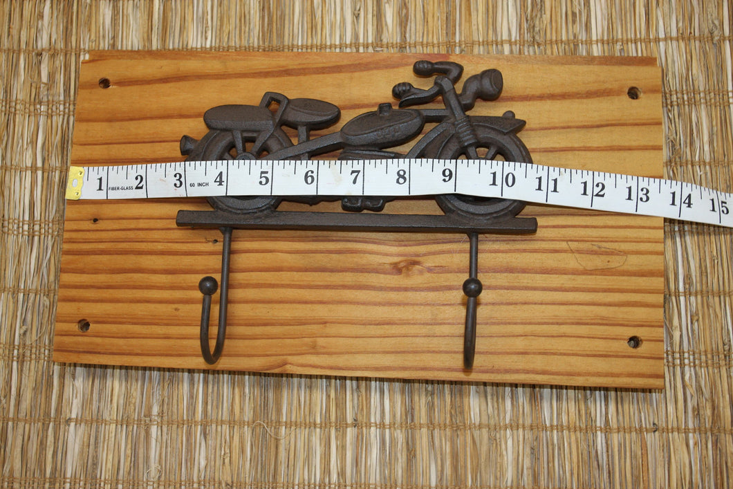 Vintage Motorcycle Workshop Wall Hooks, Handmade in USA,reclaimed Wood, The Country Hookers, CH-28