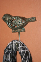 DIY Hall Tree Bird Wall Hooks Cast Iron 5 inch Songbirds Wild Birds Hooks, Bronze-look, Volume Priced, H-78