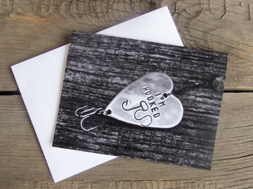 ADD ON to Purchase Christmas Card Fishing Card Fishing Greeting Cards I'm Hooked Wedding Invitations Fish Theme Thinking of You Anniversary